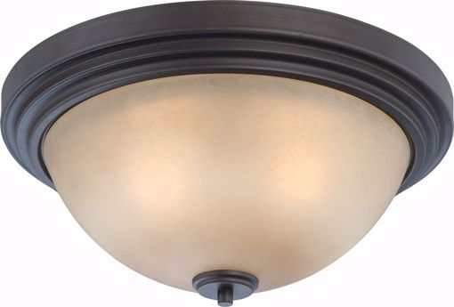 Picture of NUVO Lighting 60/4132 Harmony - 3 Light Flush Dome Fixture with Saffron Glass
