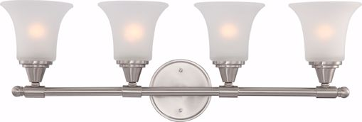 Picture of NUVO Lighting 60/4144 Surrey - 4 Light Vanity Fixture with Frosted Glass