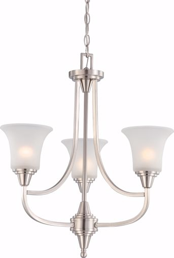 Picture of NUVO Lighting 60/4145 Surrey - 3 Light Chandelier with Frosted Glass