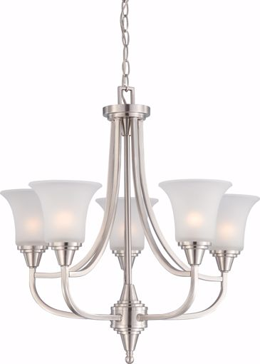 Picture of NUVO Lighting 60/4146 Surrey - 5 Light Chandelier with Frosted Glass