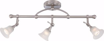 Picture of NUVO Lighting 60/4154 Surrey - 3 Light Fixed Track Bar with Frosted Glass - (3) 50w Halogen Lamps Included