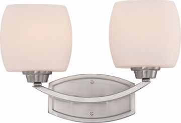 Picture of NUVO Lighting 60/4182 Helium - 2 Light Vanity Fixture with Satin White Glass