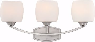 Picture of NUVO Lighting 60/4183 Helium - 3 Light Vanity Fixture with Satin White Glass