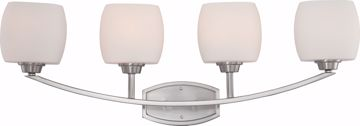 Picture of NUVO Lighting 60/4184 Helium - 4 Light Vanity Fixture with Satin White Glass