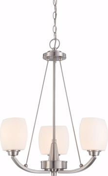 Picture of NUVO Lighting 60/4185 Helium - 3 Light Chandelier with Satin White Glass