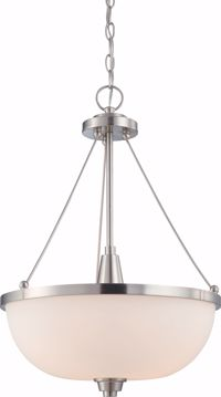 Picture of NUVO Lighting 60/4187 Helium - 3 Light Pendant with Satin White Glass