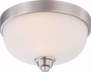 Picture of NUVO Lighting 60/4191 Helium - 1 Light Flush Dome Fixture with Satin White Glass