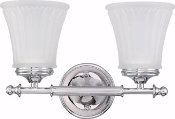 Picture of NUVO Lighting 60/4262 Teller - 2 Light Vanity Fixture with Frosted Etched Glass