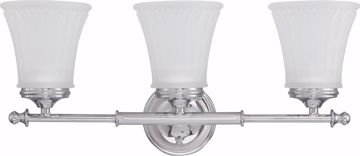 Picture of NUVO Lighting 60/4263 Teller - 3 Light Vanity Fixture with Frosted Etched Glass