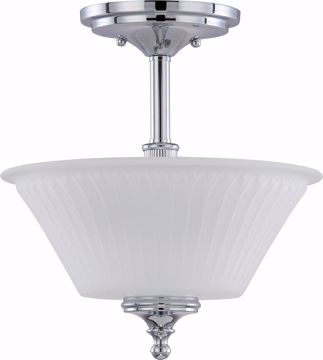Picture of NUVO Lighting 60/4268 Teller - 2 Light Semi Flush Fixture with Frosted Etched Glass