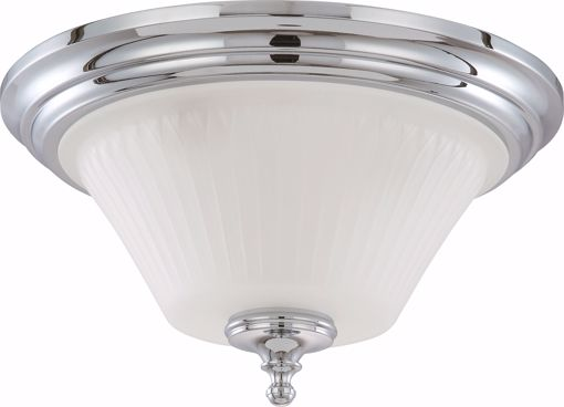 Picture of NUVO Lighting 60/4272 Teller - 3 Light Flush Dome Fixture with Frosted Etched Glass