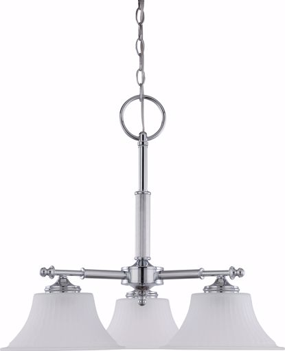 Picture of NUVO Lighting 60/4273 Teller - 3 Light Dinette Fixture with Frosted Etched Glass