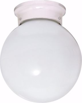 """Picture of NUVO Lighting 60/430 1 Light CFL - 6"""" - Flush Mount - White Ball - (1) 13W GU24 Lamps Included"""