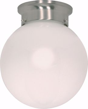 """Picture of NUVO Lighting 60/432 1 Light CFL - 6"""" - Flush Mount - White Ball - (1) 13W GU24 Lamps Included"""