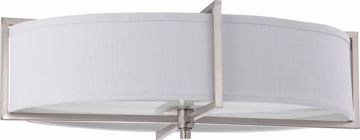 Picture of NUVO Lighting 60/4349 Portia ES - 6 Light Oval Flush with Slate Gray Fabric Shade - (6) 13w GU24 Lamps Included