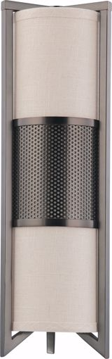 Picture of NUVO Lighting 60/4439 Diesel - 3 Light Vertical Sconce with Khaki Fabric Shade