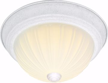 """Picture of NUVO Lighting 60/444 2 Light CFL - 13"""" - Flush Mount - Frosted Melon Glass - (2) 13W GU24 Lamps Included"""