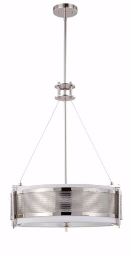 Picture of NUVO Lighting 60/4443 Diesel - 4 Light Round Pendant with Slate Gray Fabric Shade
