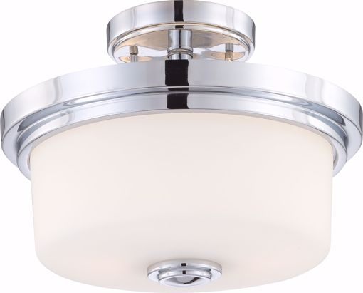 Picture of NUVO Lighting 60/4593 Soho - 2 Light Semi Flush Fixture with Satin White Glass