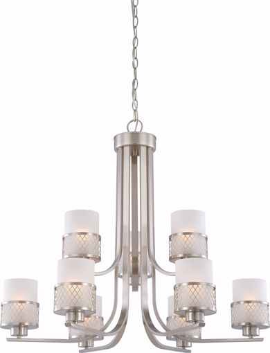 Picture of NUVO Lighting 60/4689 Fusion - 9 Light Chandelier with Frosted Glass