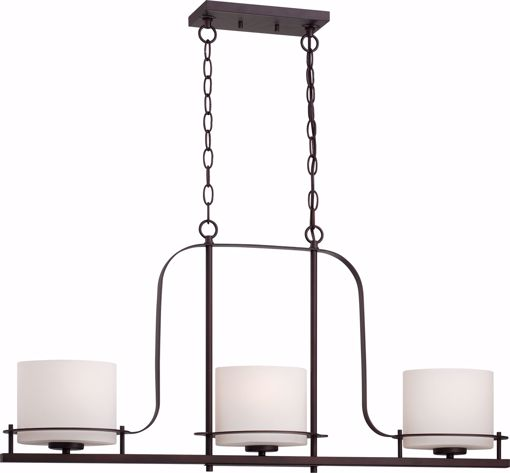 Picture of NUVO Lighting 60/5006 Loren - 3 Light Island Pendant with Oval Frosted Glass