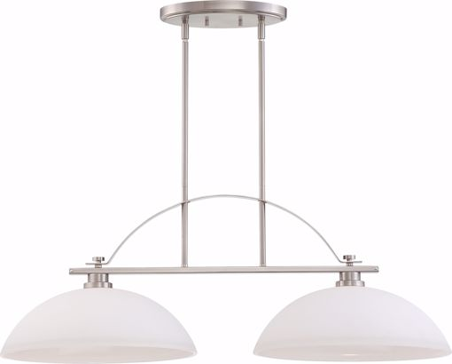 Picture of NUVO Lighting 60/5018 Bentley - 2 Light Island Pendant with Frosted Glass