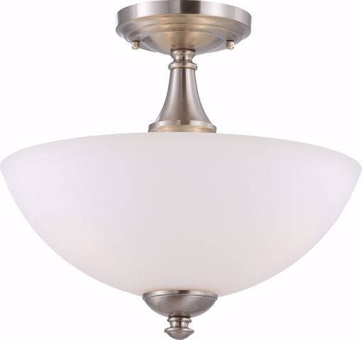 Picture of NUVO Lighting 60/5044 Patton - 3 Light Semi Flush with Frosted Glass