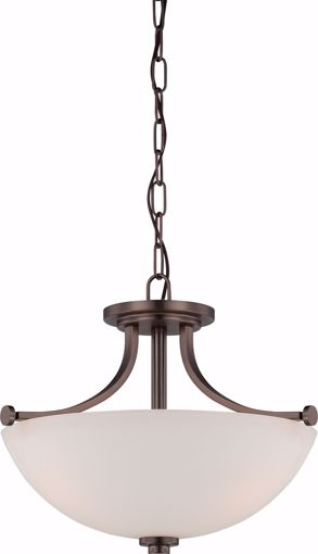 Picture of NUVO Lighting 60/5117 Bentley - 3 Light Semi Flush with Frosted Glass
