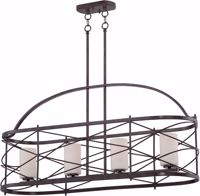 Picture of NUVO Lighting 60/5338 Ginger - 4 Light Island Pendant with Etched Opal Glass