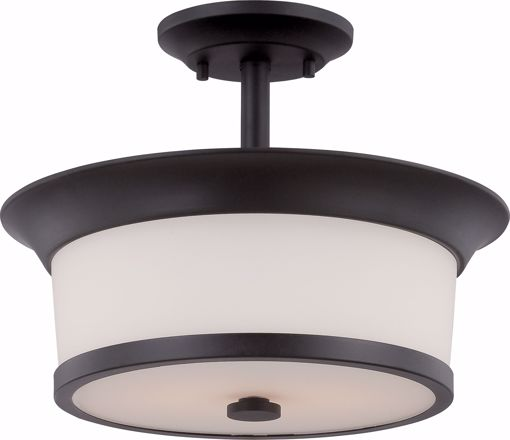 Picture of NUVO Lighting 60/5550 Mobili - 2 Light Semi Flush with Satin White Glass
