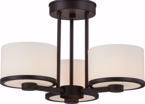 Picture of NUVO Lighting 60/5577 Celine - 3 Light Semi Flush with Etched Opal Glass