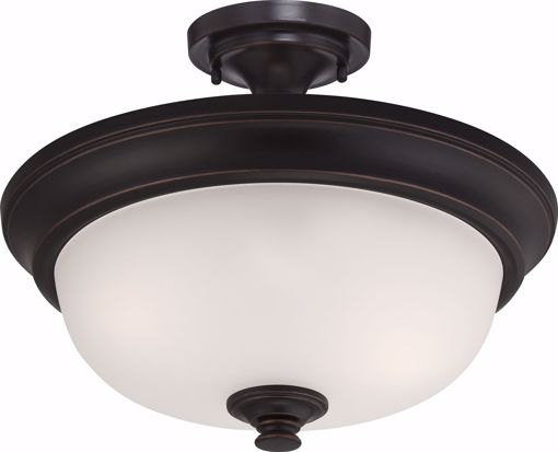 Picture of NUVO Lighting 60/5700 Elizabeth - 2 Light Semi Flush with Frosted Glass
