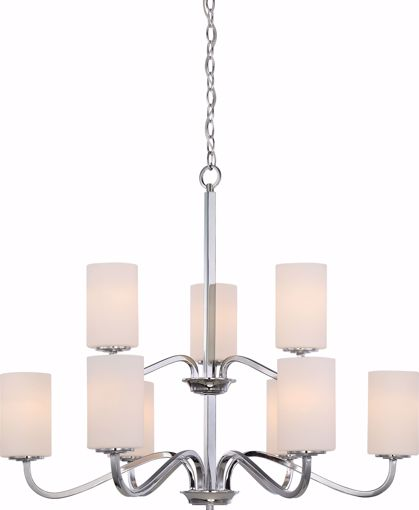 Picture of NUVO Lighting 60/5809 Willow - 9 Light 2-Tier Hanging Fixture with White Glass