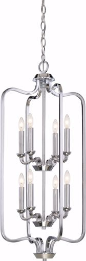 Picture of NUVO Lighting 60/5872 Willow 8 light Caged Pendant - Polished Nickel