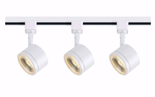 Picture of NUVO Lighting TK403 Track Lighting Kit; 12 watt LED; 3000K; 36 degree; Round shape; White finish
