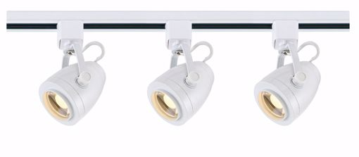 Picture of NUVO Lighting TK413 Track Lighting Kit; 12 watt LED; 3000K; 36 degree; Pinch back shape; White finish