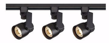 Picture of NUVO Lighting TK424 Track Lighting Kit; 12 watt LED; 3000K; 36 degree; Round shape with angle arm; Black finish