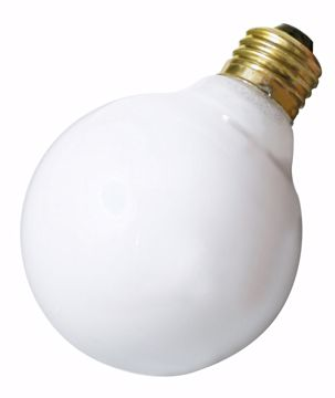 Picture of SATCO A3645 40W G-25 WHITE 220 VOLT Incandescent Light Bulb