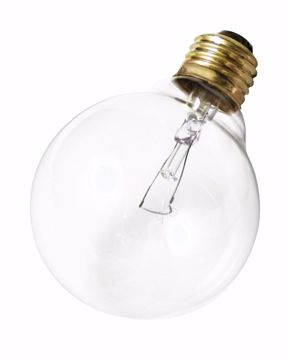 Picture of SATCO A3647 25W G25 Standard Clear Incandescent Light Bulb