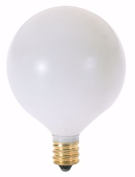 Picture of SATCO A3925 25W G16 1/2 2RD CAND WHT 130V Incandescent Light Bulb