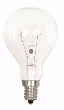 Picture of SATCO S2740 40A15/CLEAR 120V E12 2/CD Incandescent Light Bulb