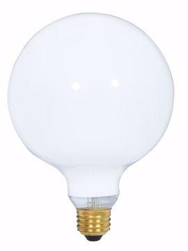 Picture of SATCO S3003 100W G-40 WHITE Incandescent Light Bulb