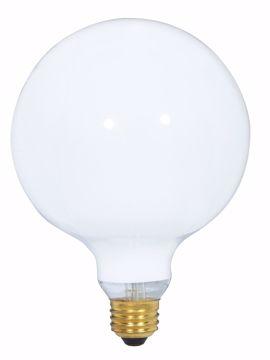 Picture of SATCO S3004 150W G40 WHITE Incandescent Light Bulb
