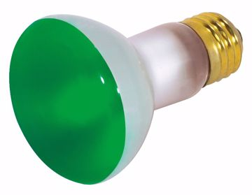 Picture of SATCO S3201 50R20 GREEN Standard BASE Incandescent Light Bulb