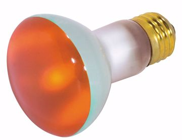 Picture of SATCO S3203 50W R20 Standard AMBER Incandescent Light Bulb