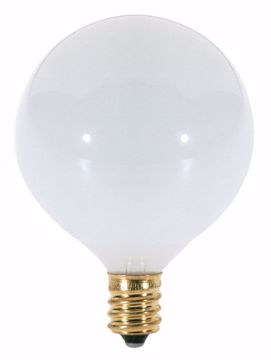 Picture of SATCO S3261 40W G16 1/2 CAND GLOSS WHT Incandescent Light Bulb