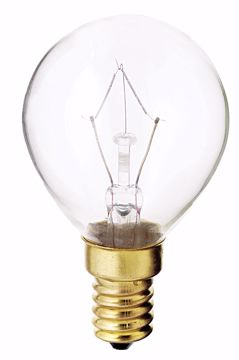 Picture of SATCO S3397 40W G-14 CLEAR E-14 130V. Incandescent Light Bulb