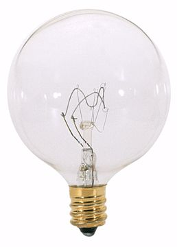Picture of SATCO S3728 40W G16 1/2 CAND CLEAR Incandescent Light Bulb