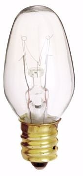 Picture of SATCO S3791 7W C7 CAND Clear Incandescent Light Bulb