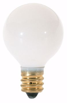 Picture of SATCO S3864 10G8 1RD CAND WHT Incandescent Light Bulb